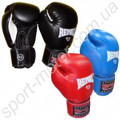 Перчатки боксерские REYVEL 14oz кожзам