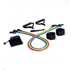 Эспандер для фитнеса на 3 сменных жгута LiveUp