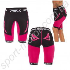 Шорты женские Bad Boy Compression Shorts Black/Pink