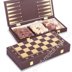 Шахматы, нарды, шашки 34 х 34 см (кожзам)
