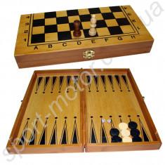 Шахматы, нарды, шашки 40 х 40 см (бамбук)