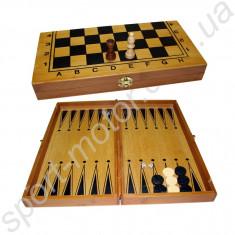 Шахматы, нарды, шашки 30 х 30 см (бамбук)