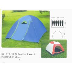 Палатка 6-и местная 2,2 х 2,5м с тентом