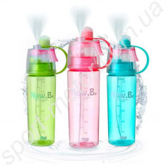 Бутылка для воды со спреем New. B (new button), 400 мл