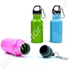 Бутылка для воды с карабином алюминиевая 500 L