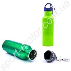 Бутылка для воды с карабином алюминиевая 700 L