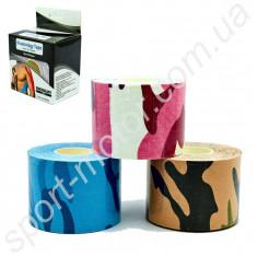 Кинезио тейп CAMO (Kinesio tape) эластичный пластырь 5см х 5м