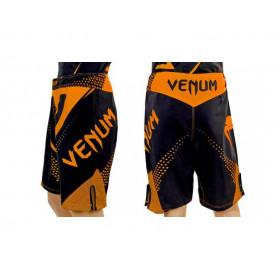Шорты для смешанных единоборств Venum ч/оранжевый
