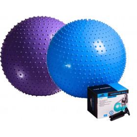 Фитбол массажный PowerPlay 75см + насос