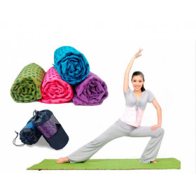 Коврик – полотенце Yoga mat towel микрофибра, силикон