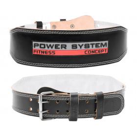 Пояс штангиста Power Black кожа 10см