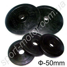 Блин обрезиненный диаметр 50 мм 20кг (1шт.)