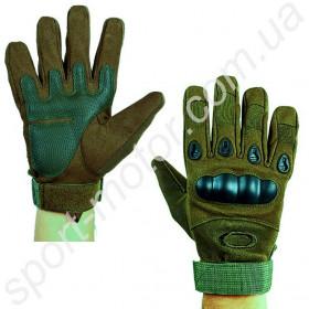 Перчатки тактические с пластиковой защитой OAKLEY олива