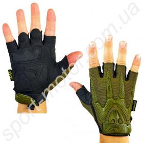 Перчатки тактические с открытыми пальцами MECHANIX WEAR олива