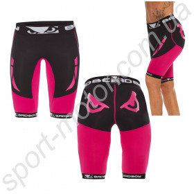 Шорты женские Bad Boy Compression Shorts Black/Pink