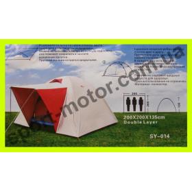 Палатка 3-х местная SY-014 (серебристая)