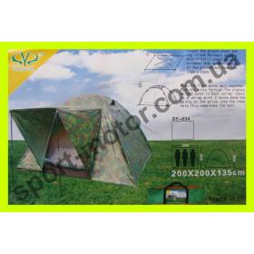 Палатка 3-х местная камуфляж с тамбуром