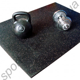Резиновый коврик для гантелей штанги 7мм р.175 х 120см