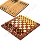 Шахматы, нарды, шашки 34 х 34 см деревянные с магнитом