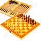 Шахматы, нарды, шашки 24 х 24 см (дерево)